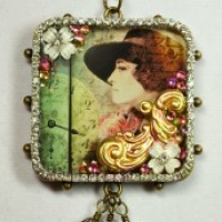 bezel filigree necklace for butterbeescraps