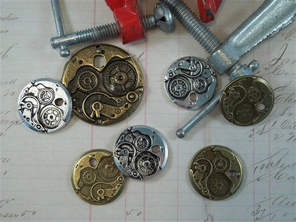watch mechanism tibetan charms by butterbeescraps