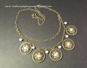 bronze flower necklace for butterbeescraps