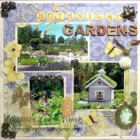 Coastal Maine Botanical Gardens Scrapbook Layout