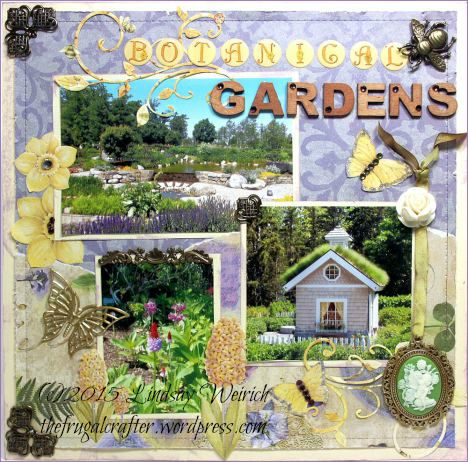 Coastal Maine Botanical Gardens Scrapbook Layout