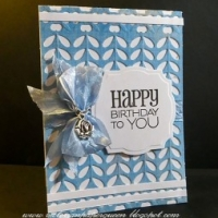 blue happy birthday card for butterbeescraps