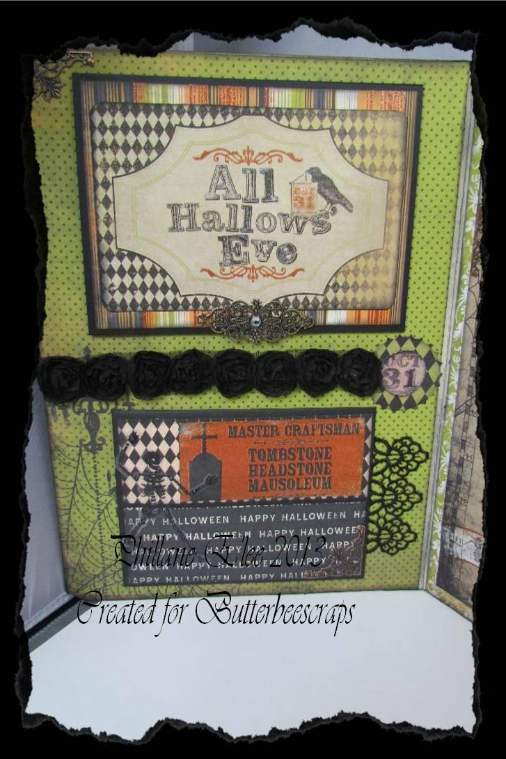 halloween card for butterbeescraps