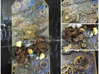 mixed media steampunk tag butterbeescraps
