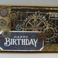 gilded masculine birthday card by butterbeescraps