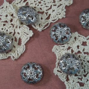 large silver filigree beads by butterbeescraps