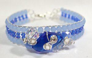blue frost crystal beaded bracelet by heidi blankenship
