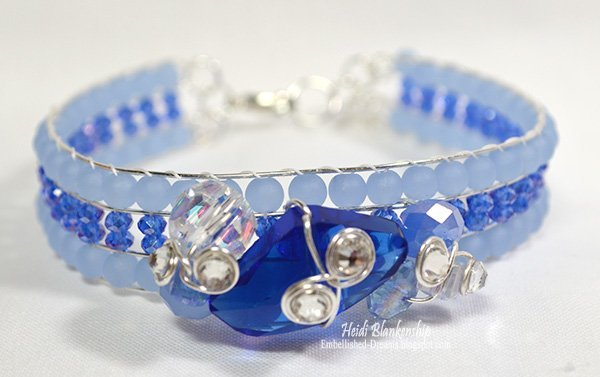 blue frost crystal beaded bracelet by heidi blankenship