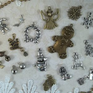 jingle bells tibetan charms by butterbeescraps