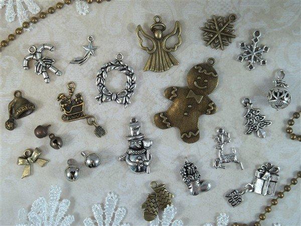 jingle bells tibetan charms by butterbeescraps