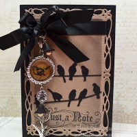just a note card with bird charms by heidi blankenship