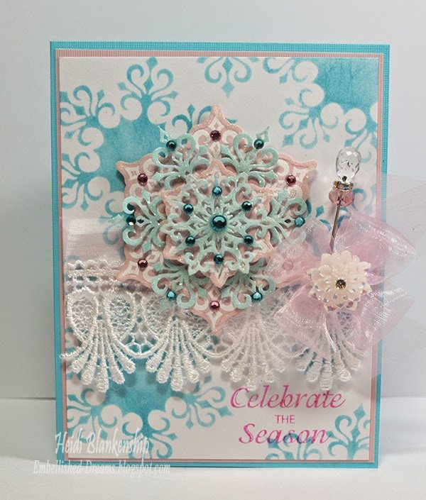 snowflake celebrate the season card by heidi blankenship
