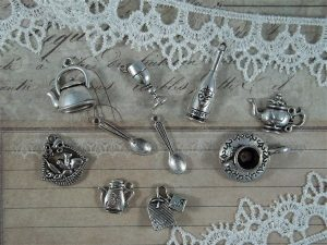 tea time tibetan charms by butterbeescraps