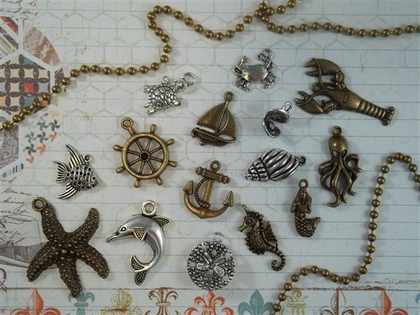 under the sea tibetan charms by butterbeescraps