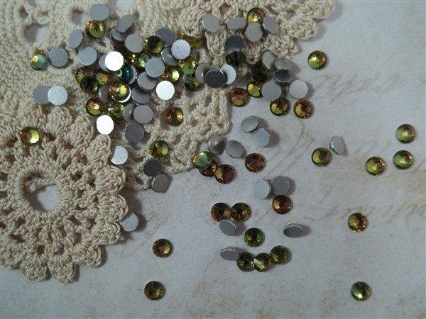vitrail ab flat back glass rhinestones by butterbeescraps