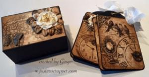 indigoblu belle epoque tag mini album for butterbeescraps