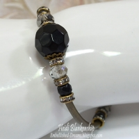 black and bronze beaded bracelet
