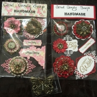 handmade embellishments for butterbeescraps