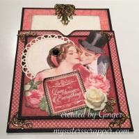 Mon Amour handmade pocket card