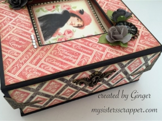 pink and black mon amour altered box