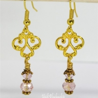 gold flourish earrings