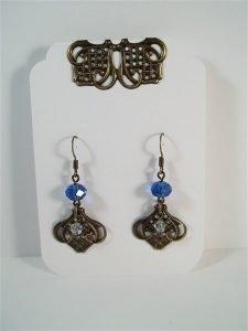 bronze filigree earrings