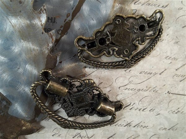 antique bronze drawer pulls for mixed media and scrapbooking