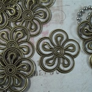 bronze flower metal filigree embellishments 420-b