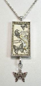 butterfly bezel necklace pendant