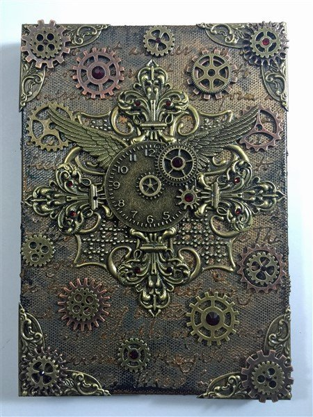 steampunk mixed media canvas