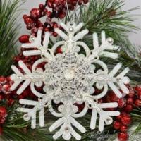 snowflake filigree christmas ornament