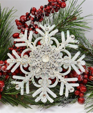 snowflake filigree christmas ornament