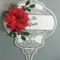 christmas ornament poinsettia gift tags