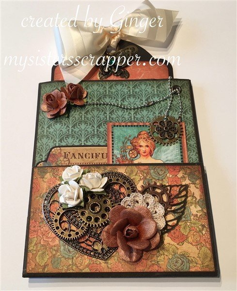 g45 steampunk debutante altered paper bag