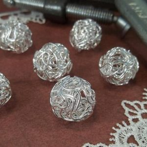 silver wire wrapped beads