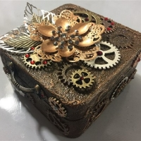 steampunk miniature altered box
