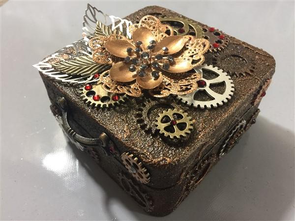 miniature steampunk altered box by monica roca