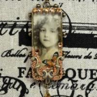 ice resin bezel necklace pendant