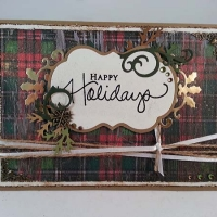 Red and Green Plaid Masculine Christmas Card