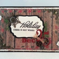 rustic masculine christmas card with gears