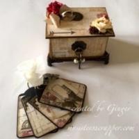 stationer's desk boxed tag mini album