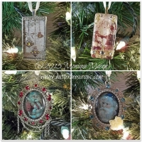 butterbeescraps christmas ornament tutorial using ice resin
