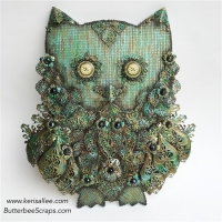 steampunk owl mixed media project