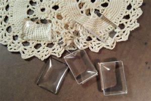 small rectangular glass cabochons