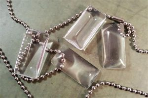 medium rectangular glass cabochons