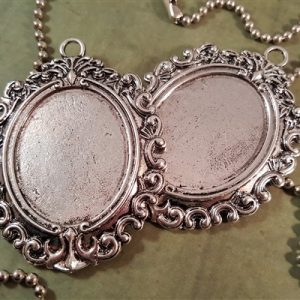 large silver oval cameo frames