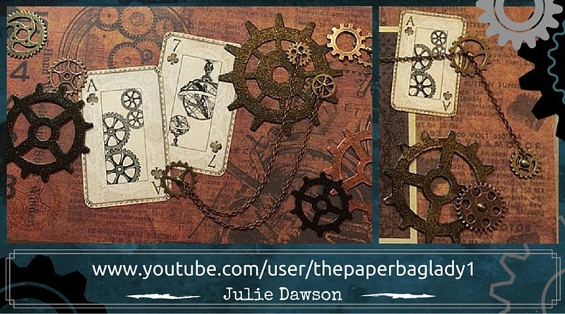 Julie Dawson masculine chain and gears mini album feature