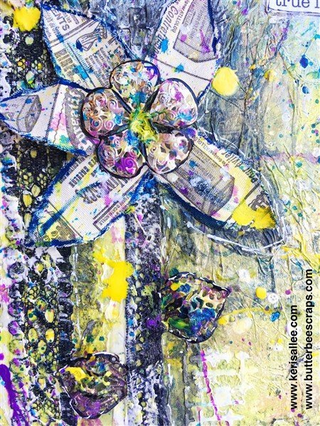 mixed media flowers by Keri Sallee