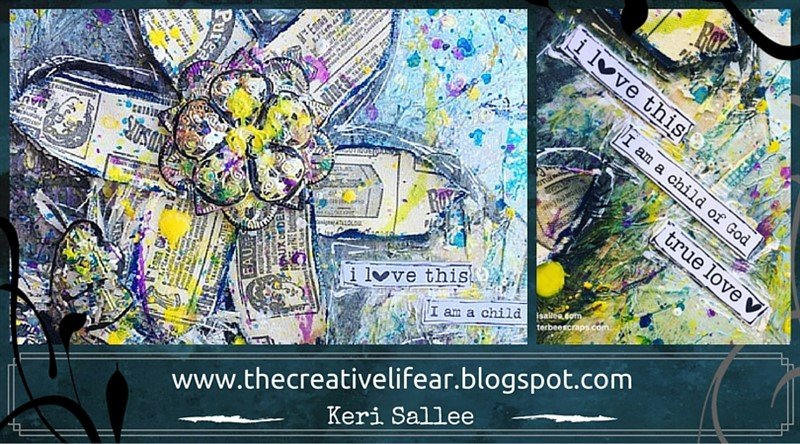 mixed media flowers by Keri Sallee