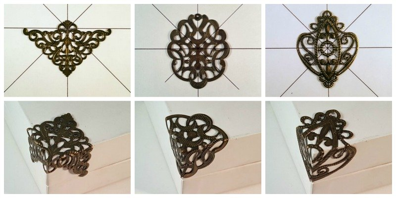 metal filigree box corners